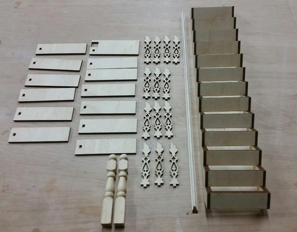 Staircase kit (landing rail kit pictured separately)