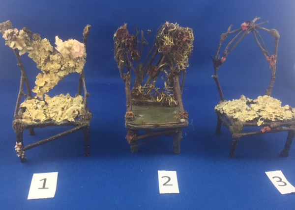 1/12 Scale Fairy Garden Twig Chairs
