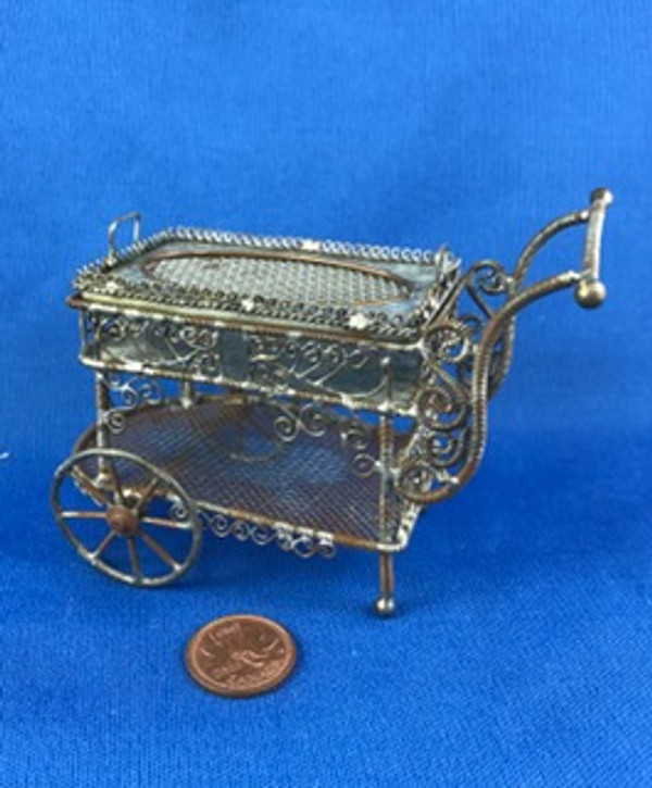 Rustic  Wire Tea Cart