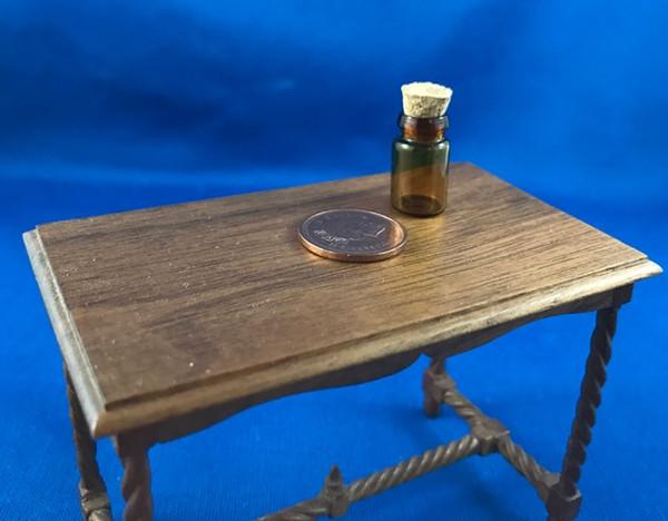 Brown Glass Jar with Cork