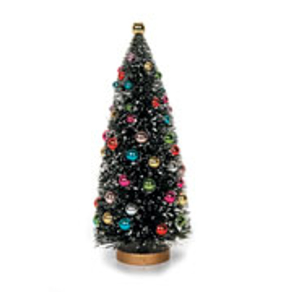 """6 1/2"""" Pre-Decorated Christmas Tree with Working Lights"""