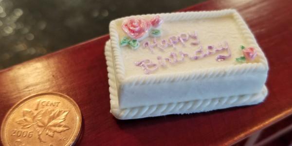 Hand painted Birthday Cake