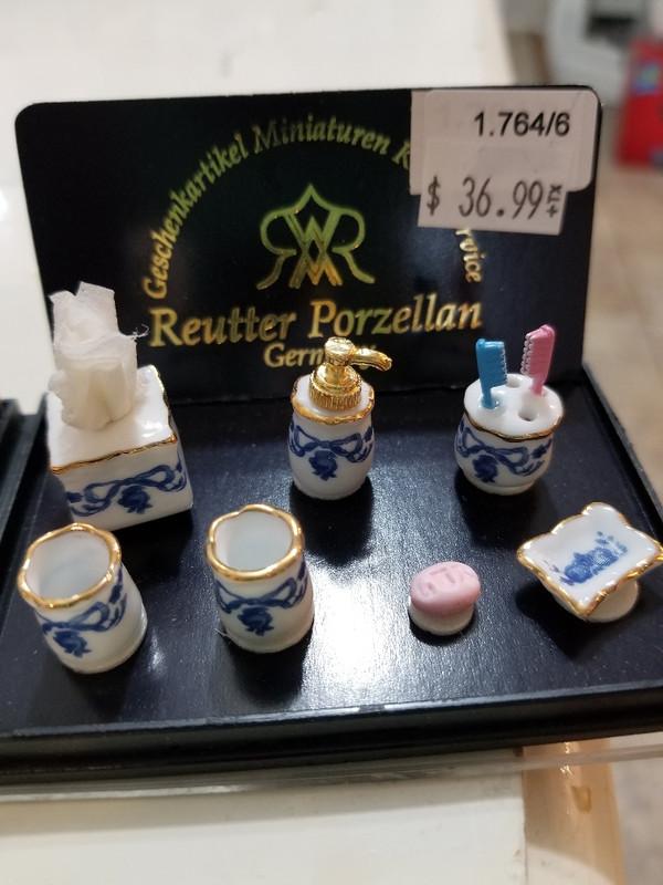 Reutter Porzellan - Blue Bathroom Accessory Set