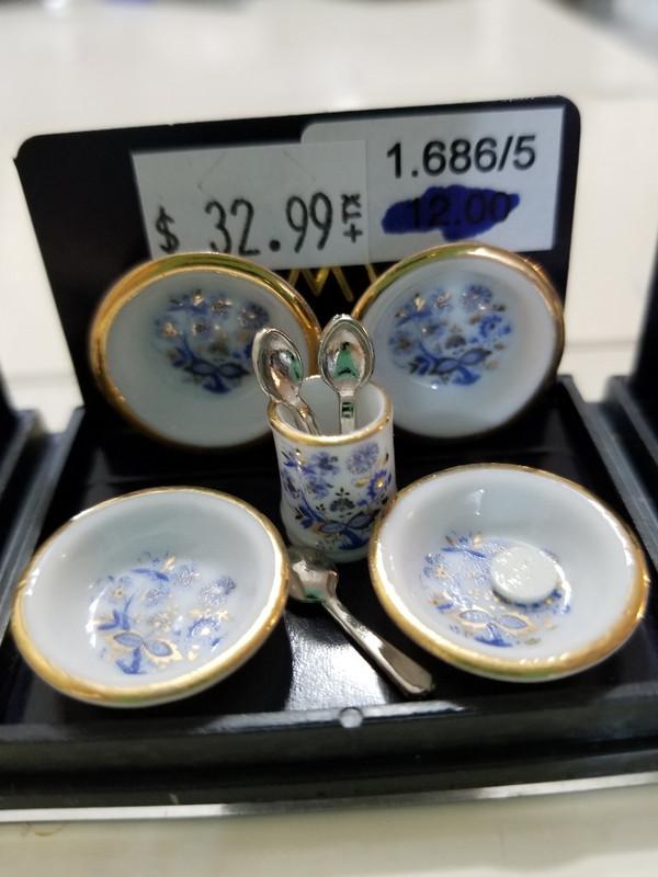 Reutter Porzellan -  Blue Onion Soup Bowl Set
