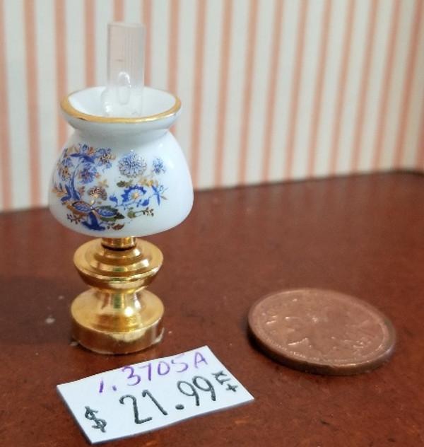 Reutter Porzellan -  Blue Onion Porcelain Hurricane Table Lamp