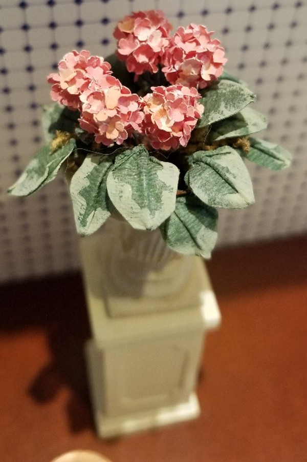 Handcrafted Flower Arrangement in Tall Flower Planter(33)