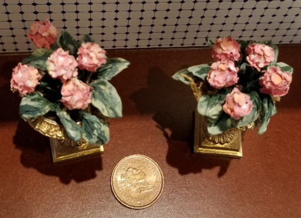 Pair of Handcrafted Flower Arrangement in Flower Planter(32)