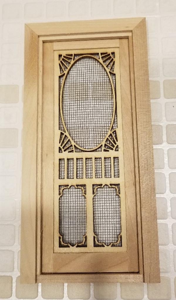 Fancy Screen Door with Threshold