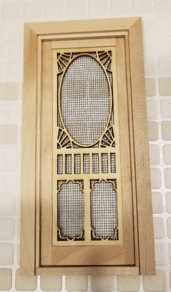Fancy Screen Door with Threshold