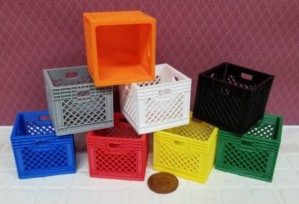 Plastic Milk Crate - NOW IN 8 COLOURS!