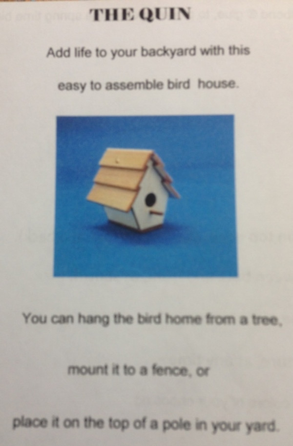 Quin's Birdhouse Kit