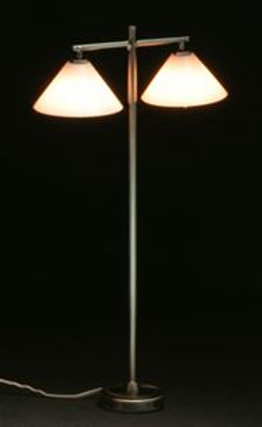 Double Down Shade Floor Lamp - pewter