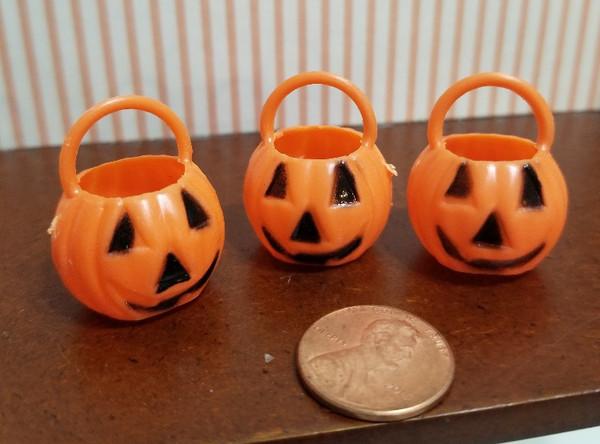 Set of 3 Pumpkin Pails