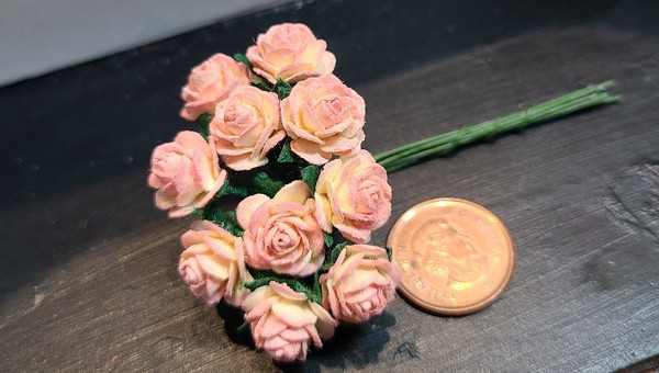 Pink & Yellow Paper Roses