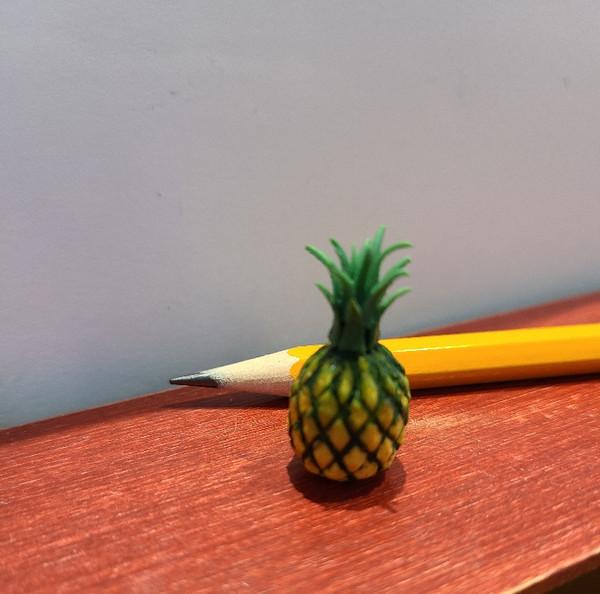 Miniature Handmade Pineapple