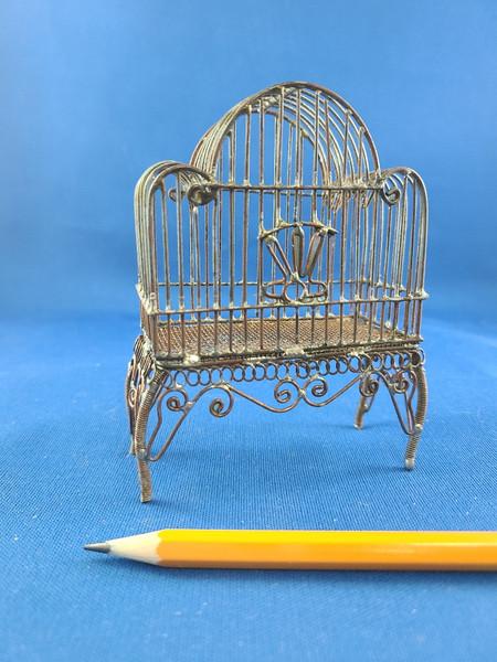 1/12 Scale Miniature Bare Wire Bird Cage