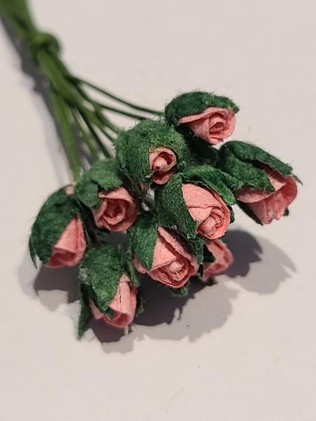 Deep Pink Paper Rose Buds