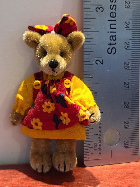 Teddy in Red & Yellow Dress