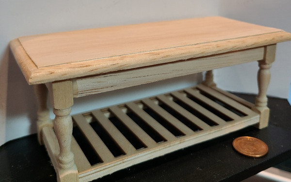 Unfinished Wood Miniature 1/12 Scale Preparation Table