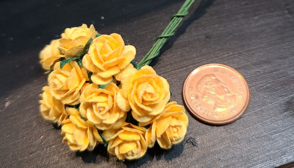 Bright Yellow Paper Roses