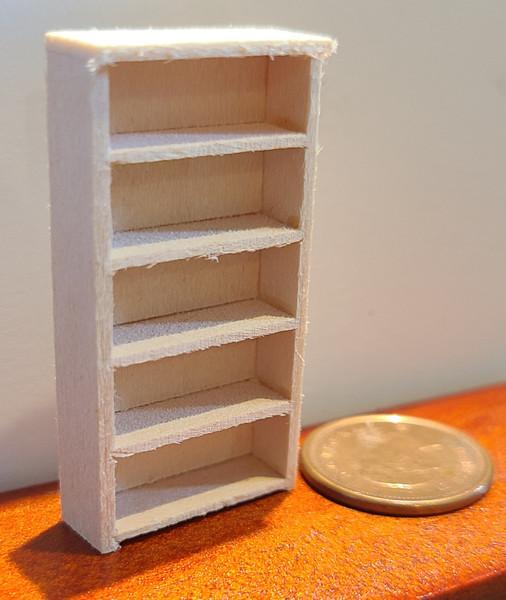 "1/4"" Scale (1/48) 5 Shelf Single Bookcase"