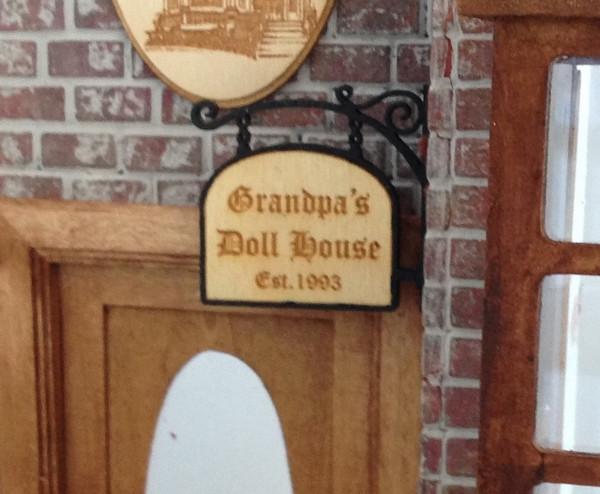 Grandpa's Doll House custom sign