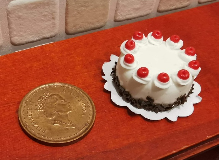 1/12 Scale Fancy Decorated Cake -Black Forest