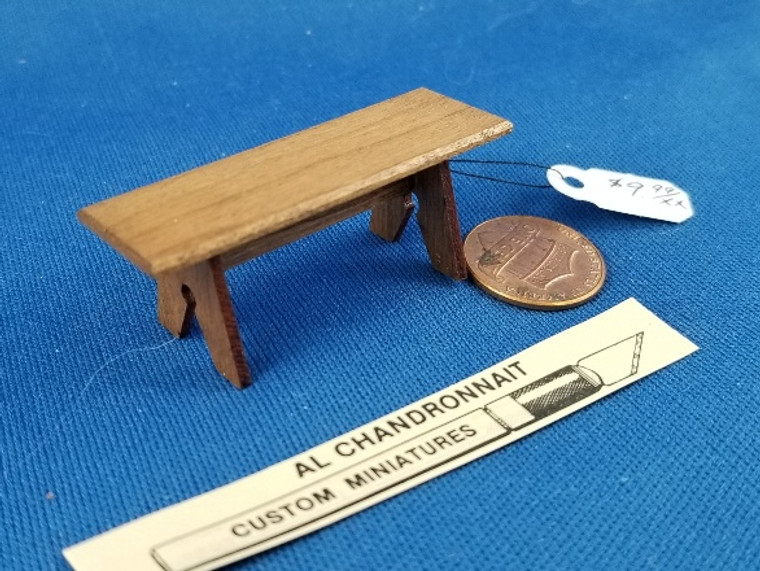 """Al Chandrannait Handcrafted Wooden Stool (2"""" wide)"""