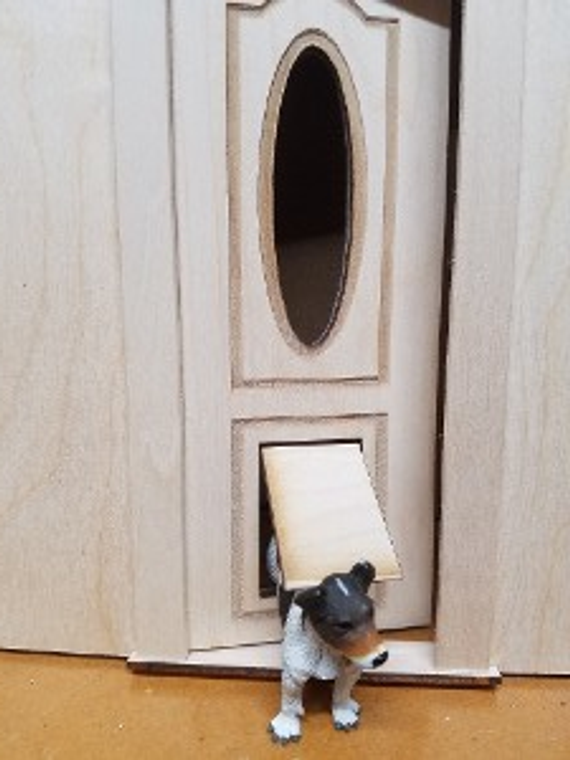 Miniature Oval Cut Alessio Door with Doggy Door