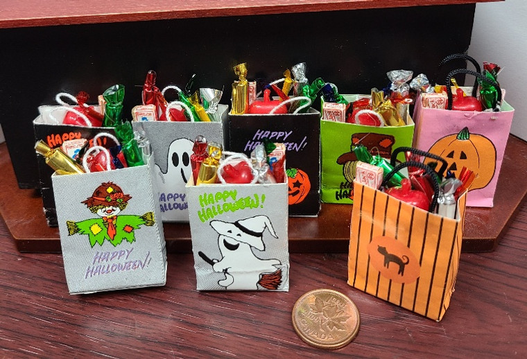 Filled Miniature Halloween Trick or Treating Bag