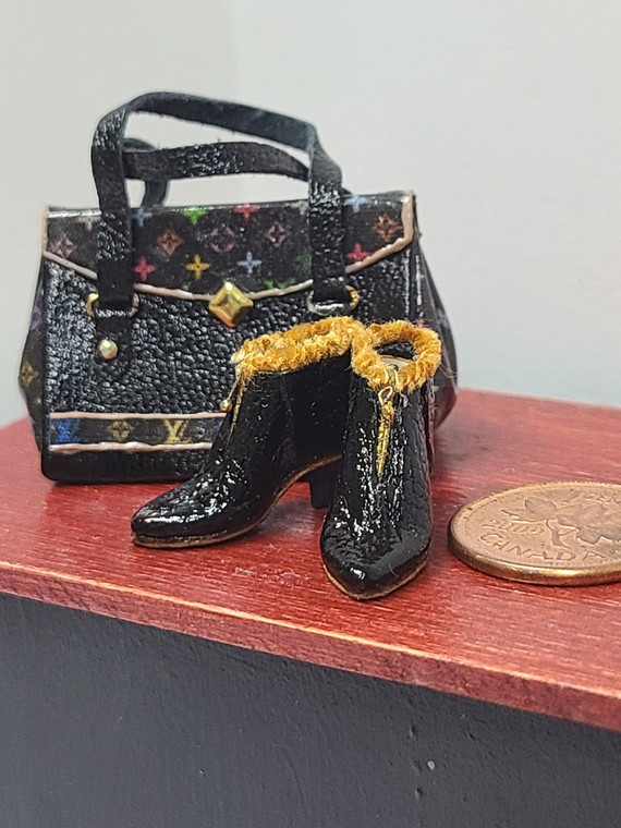 Judith Blondell Miniature Boot & Purse Set