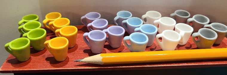 Set of 4 Miniature Mugs - Choice of Colour