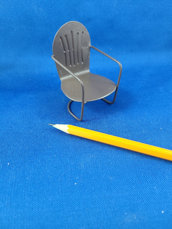 1/12 Scale Rusty Patio Chair