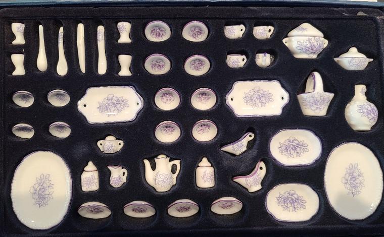 1/12 Scale 51 pc. Porcelain Dish Set