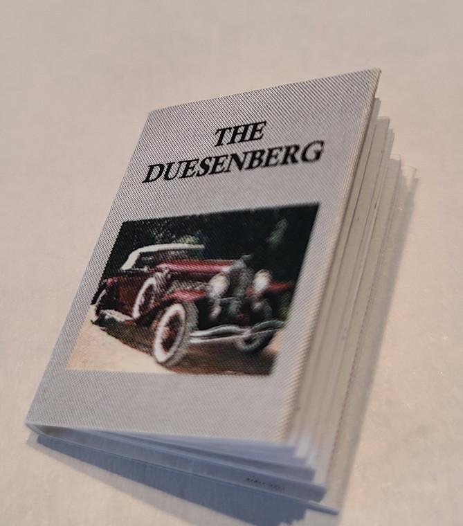 """Miniature Book, """"The Duesenberg"""""""