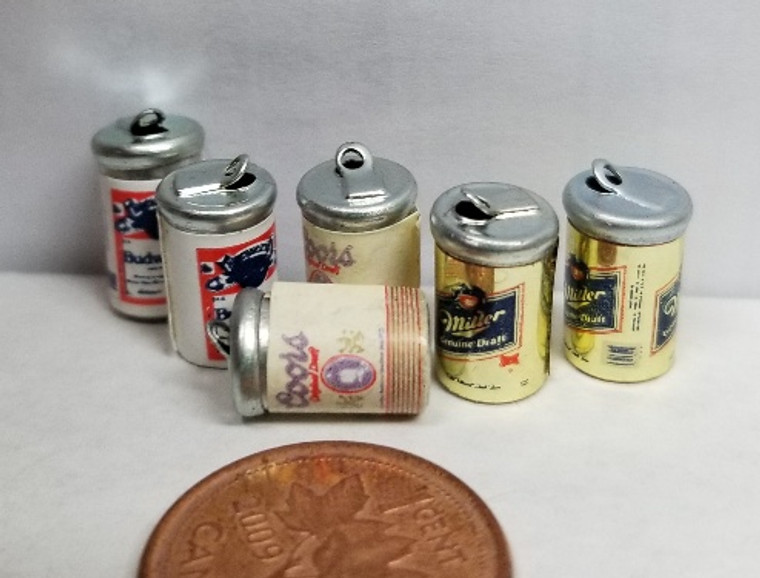 Beer Cans - set of 6