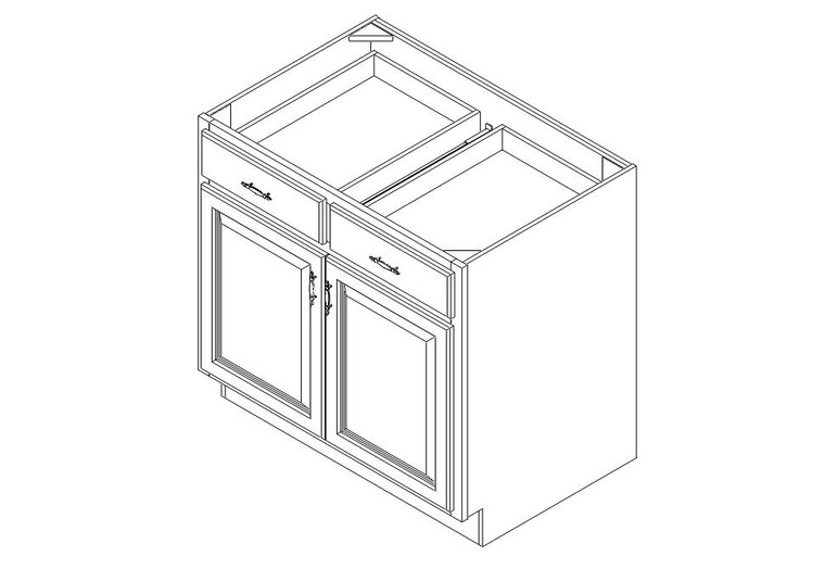 "Base Cabinet 36"" right view"