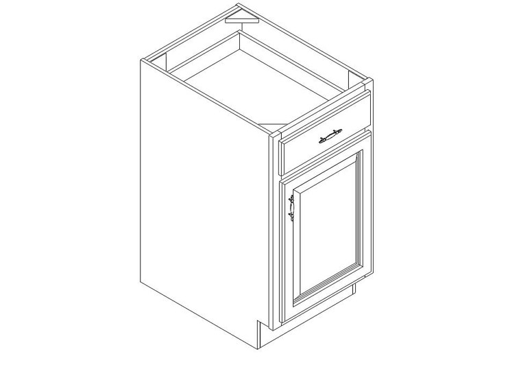 """Base Cabinet 18"""" right view"""