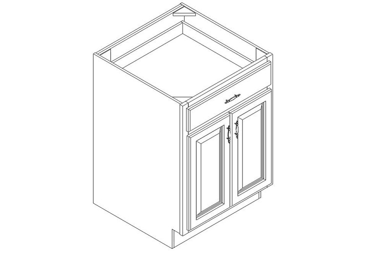 """Base Cabinet 24"""" right view"""