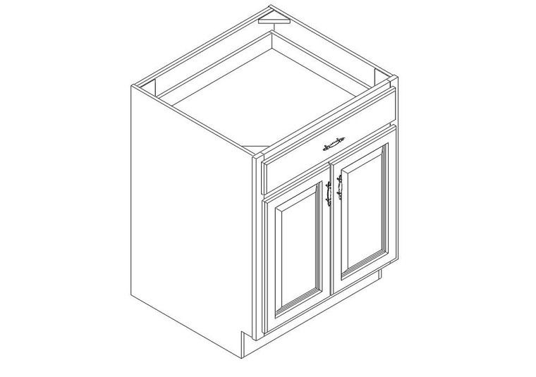 """Base Cabinet 27"""" right view"""
