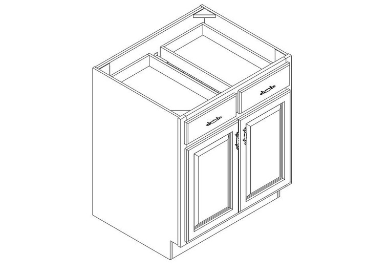 "Base Cabinet 30"" right view"