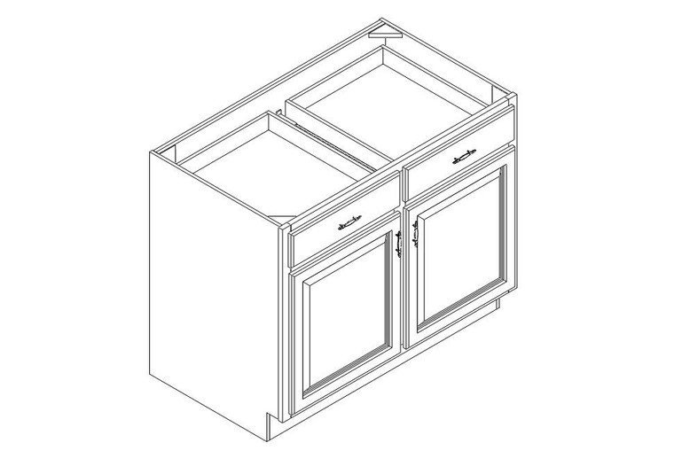 """Base Cabinet 42"""" right view"""
