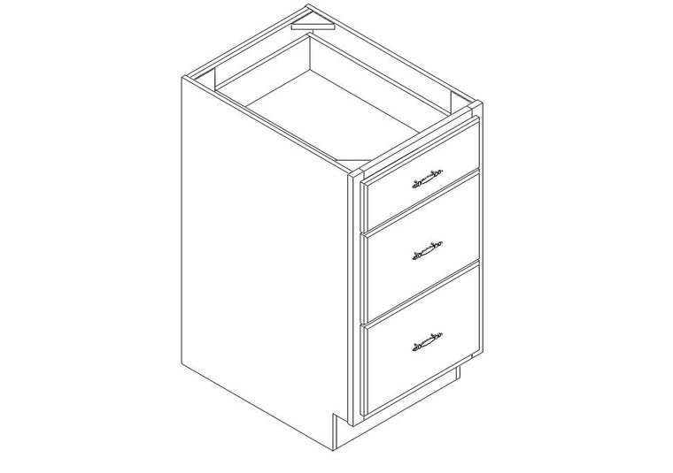 "Drawer Base Cabinet 18"" right view"