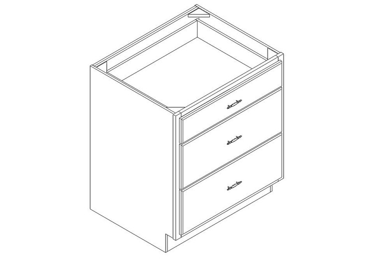 "Drawer Base Cabinet 30"" right view"