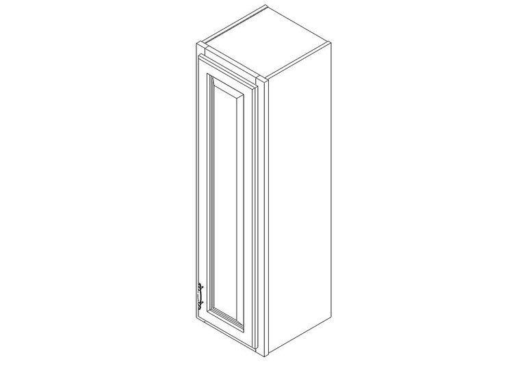 "Wall Cabinet 12"" x 42"""