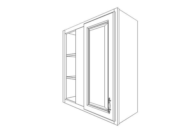 "Wall Blind Corner Cabinet 27"" x 36"""