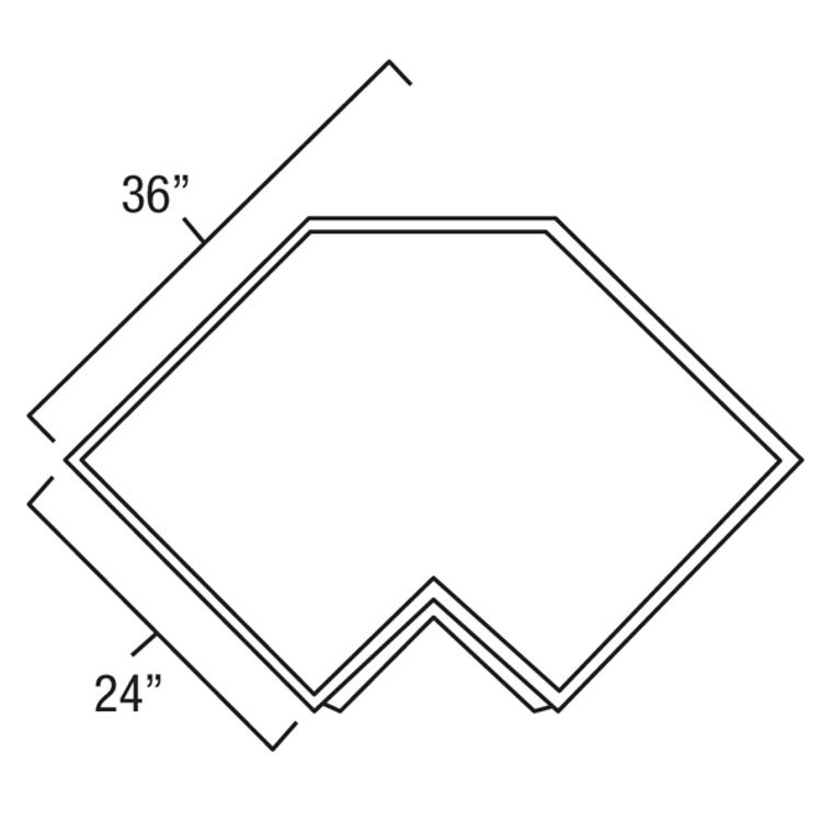Corner DrawerBase Cabinet 36