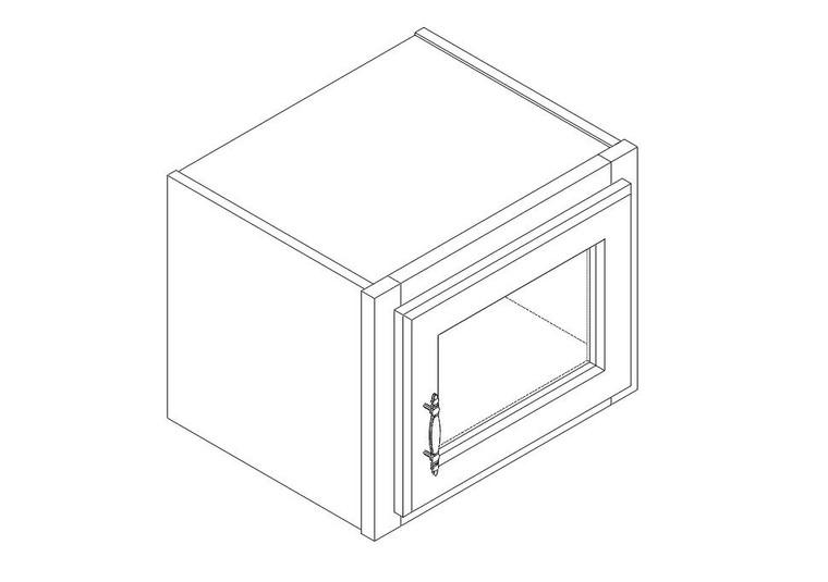 "Single Decorative Stacker Wall Cabinet 15"" x 12"""