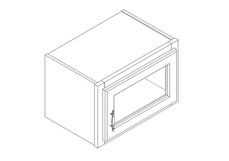 "Single Decorative Stacker Wall Cabinet 18"" x 12"""