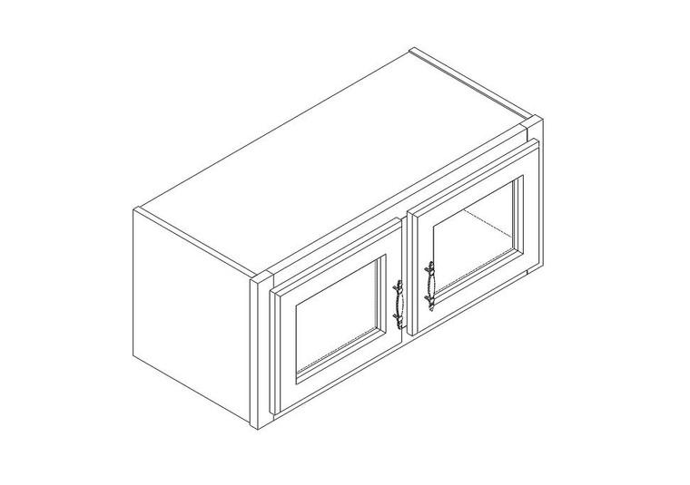 "Single Decorative Stacker Wall Cabinet 27"" x 12"""